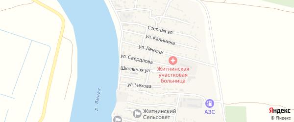 Улица Свердлова на карте Житного села с номерами домов
