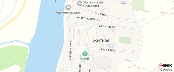 Улица Космонавтов на карте Житного села с номерами домов