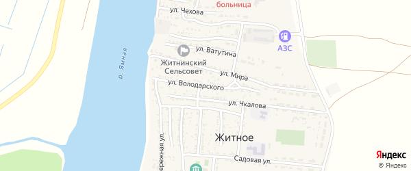 Улица Володарского на карте Житного села с номерами домов