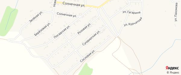 Сундырская улица на карте Мариинского Посада с номерами домов