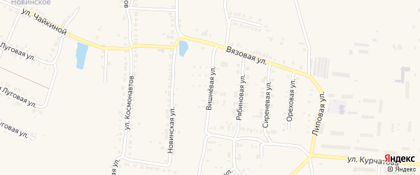 Вишневая улица на карте Мариинского Посада с номерами домов