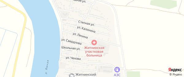 Улица Ленина на карте Житного села с номерами домов