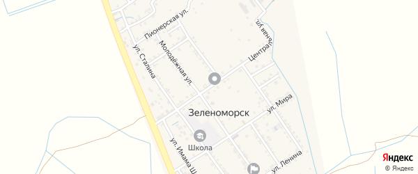 Центральная улица на карте села Зеленоморск с номерами домов