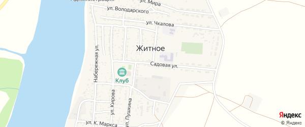 Садовая улица на карте Житного села с номерами домов