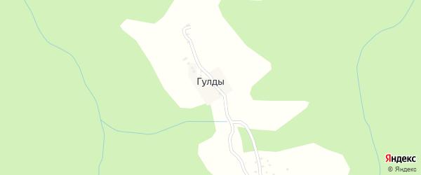 Центральная улица на карте села Гулды с номерами домов