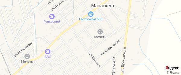 Улица Щорса на карте села Манаскента с номерами домов
