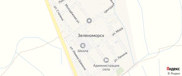 Пионерская улица на карте села Зеленоморск с номерами домов