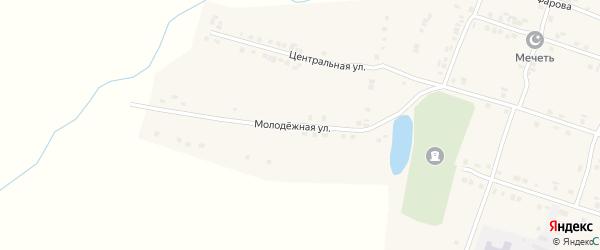 Молодежная улица на карте деревни Татарские Сугуты с номерами домов