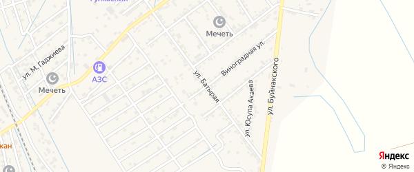 Батырая улица на карте села Манаскента с номерами домов
