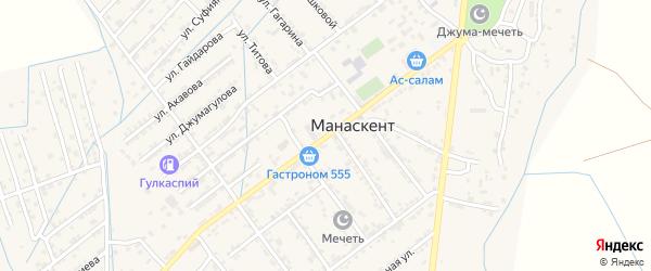Улица Р.Джангишиева на карте села Манаскента с номерами домов