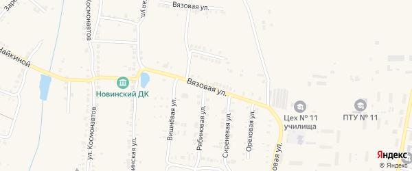 Вязовая улица на карте Мариинского Посада с номерами домов