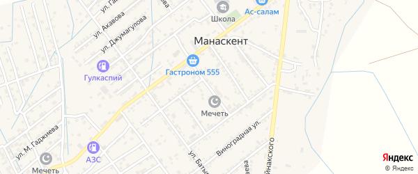 Улица Казбекова на карте села Манаскента с номерами домов
