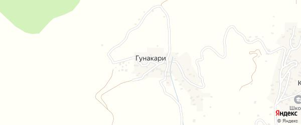 Заречная улица на карте села Гунакари с номерами домов