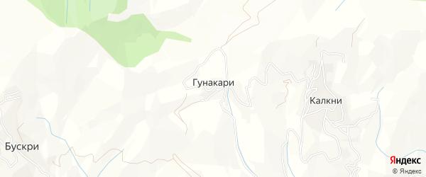 Карта села Гунакари в Дагестане с улицами и номерами домов