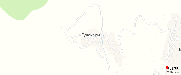Улица Шураги на карте села Гунакари с номерами домов