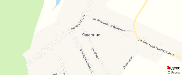 Улица Чкалова на карте деревни Ящерино с номерами домов