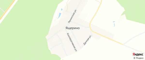 Карта деревни Ящерино в Чувашии с улицами и номерами домов