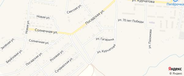 Улица Гагарина на карте Мариинского Посада с номерами домов
