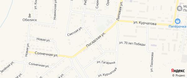 Чебоксарская улица на карте Мариинского Посада с номерами домов