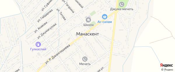 Улица Шамиля Солтанахмедова на карте села Манаскента с номерами домов