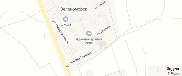 Улица Ленина на карте села Зеленоморск с номерами домов