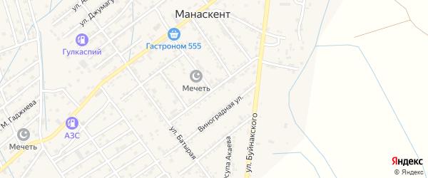 Улица Леваневского на карте села Манаскента с номерами домов