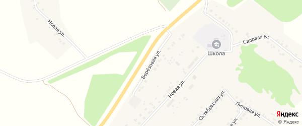 Березовая улица на карте деревни Сутчево с номерами домов