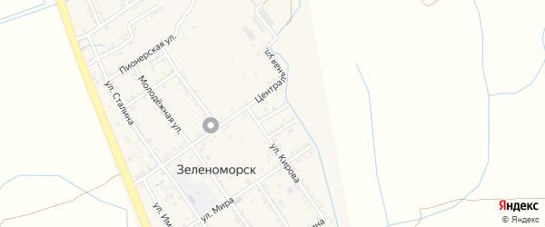 Кирова 2-й тупик на карте села Зеленоморск с номерами домов