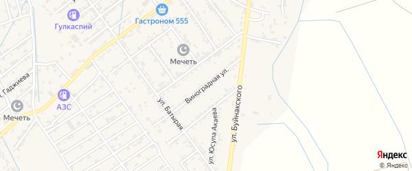 Виноградная улица на карте села Манаскента с номерами домов