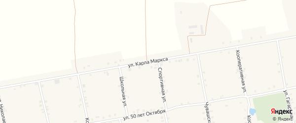 Улица Карла Маркса на карте села Новое Ахпердино с номерами домов