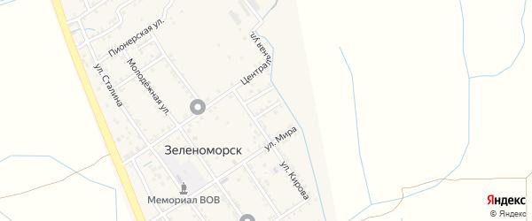 Кирова 1-й тупик на карте села Зеленоморск с номерами домов