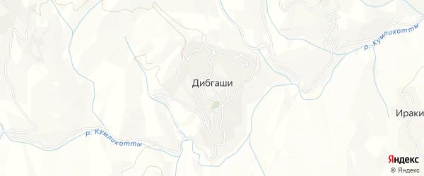 Карта села Дибгашей в Дагестане с улицами и номерами домов