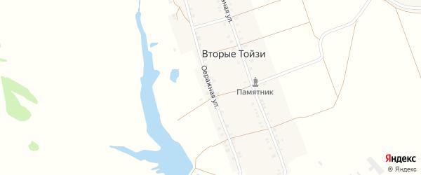 Овражная улица на карте деревни Вторые Тойзи с номерами домов