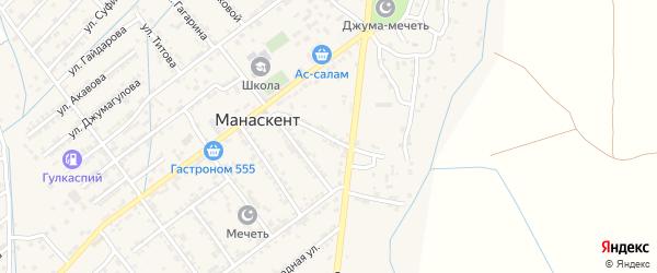 Улица Батырмурзаева на карте поселка Манаса с номерами домов