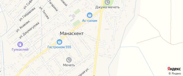 Улица Батырмурзаева на карте села Манаскента с номерами домов