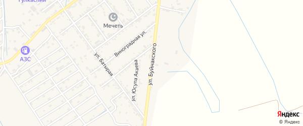 Улица Буйнакского на карте села Какашуры с номерами домов
