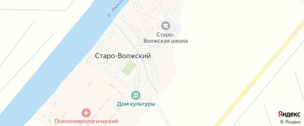 Улица Пушкина на карте Старо-волжского поселка с номерами домов