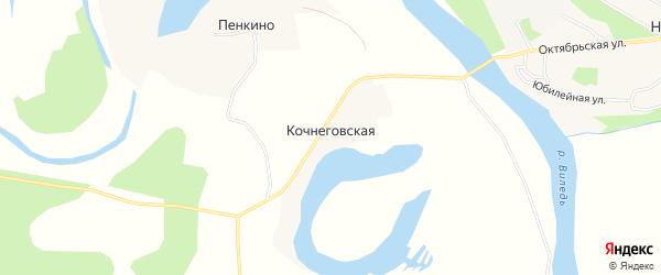 Карта Кочнеговской деревни в Архангельской области с улицами и номерами домов