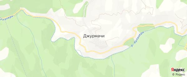 Карта села Джурмачи в Дагестане с улицами и номерами домов