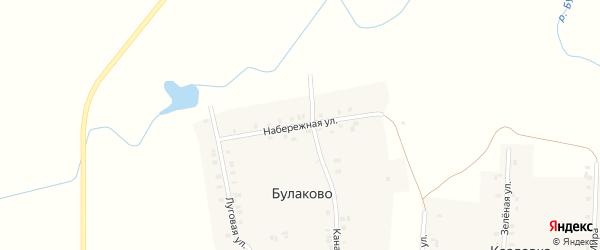 Набережная улица на карте деревни Булаково с номерами домов