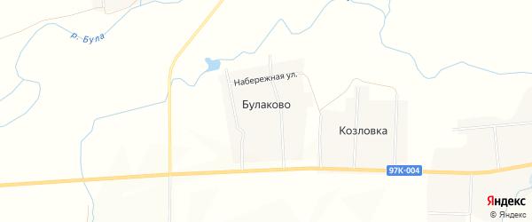 Карта деревни Булаково в Чувашии с улицами и номерами домов
