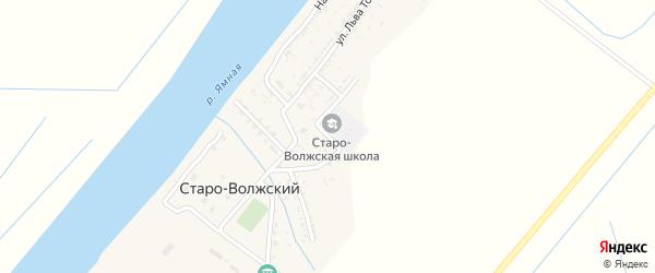 Школьная улица на карте Старо-волжского поселка с номерами домов