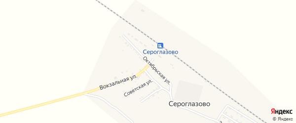 Октябрьская улица на карте поселка Сероглазово с номерами домов