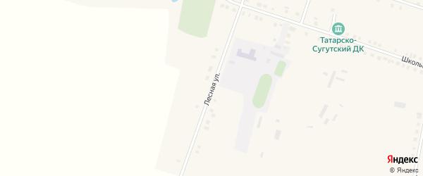 Лесная улица на карте деревни Татарские Сугуты с номерами домов