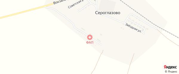Светлая улица на карте поселка Сероглазово с номерами домов