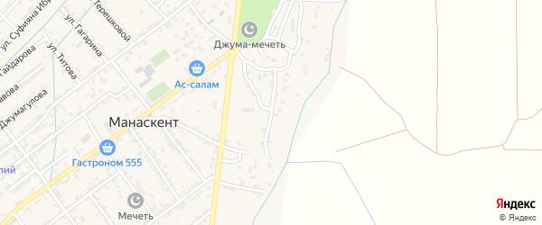 Улица Магомеда Пайзуллаева на карте села Манаскента с номерами домов