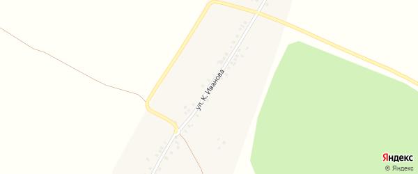 Улица К.Иванова на карте деревни Шибулаты с номерами домов