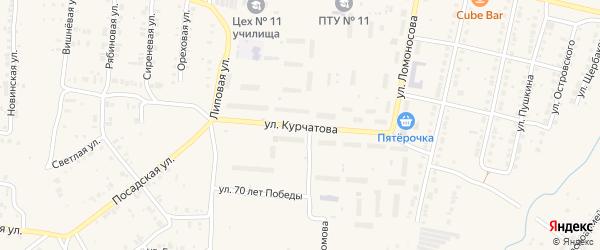 Улица Курчатова на карте Мариинского Посада с номерами домов