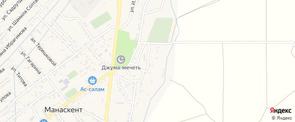 Улица Военный Дом на карте села Манаскента с номерами домов