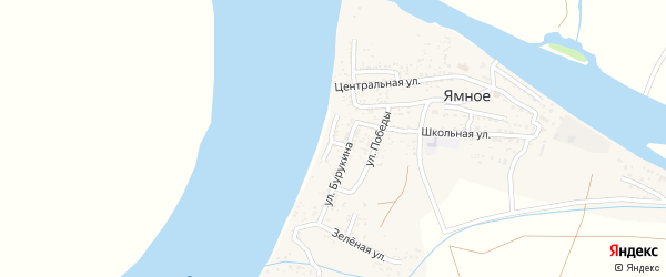 Волжская улица на карте Ямного села с номерами домов